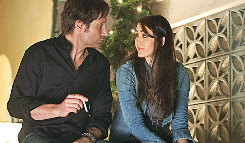 """David Duchovny and Madeline Zima in a scene from """"Californication."""""""