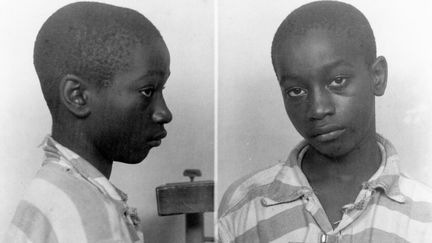 George Stinney, the youngest person ever executed in South Carolina, in 1944.
