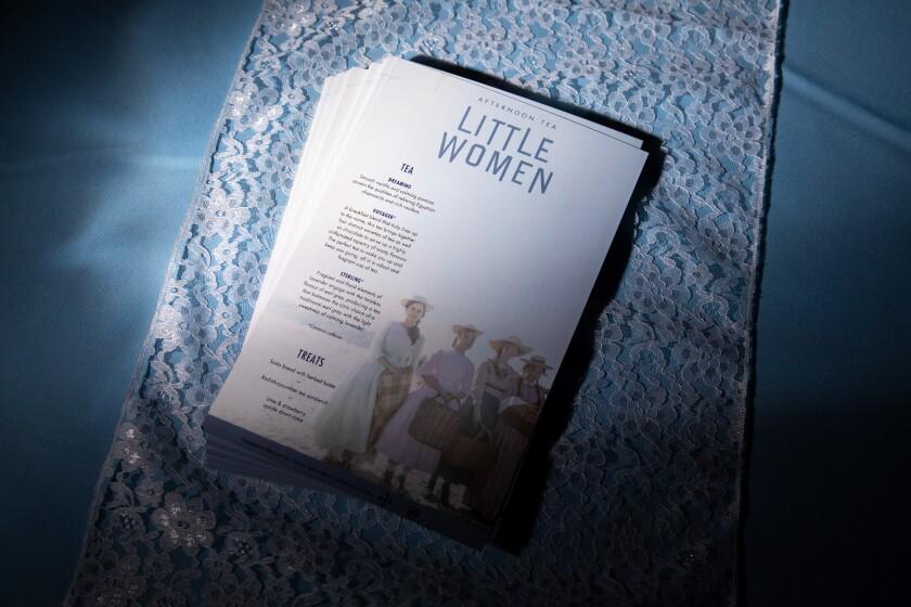 """Little Women"" tea menu"