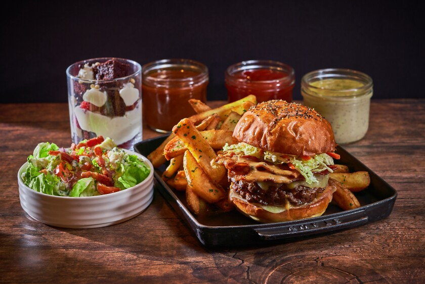 Bourbon Burger Bar is a ghost kitchen operating from  International Smoke restaurant in Carmel Valley.