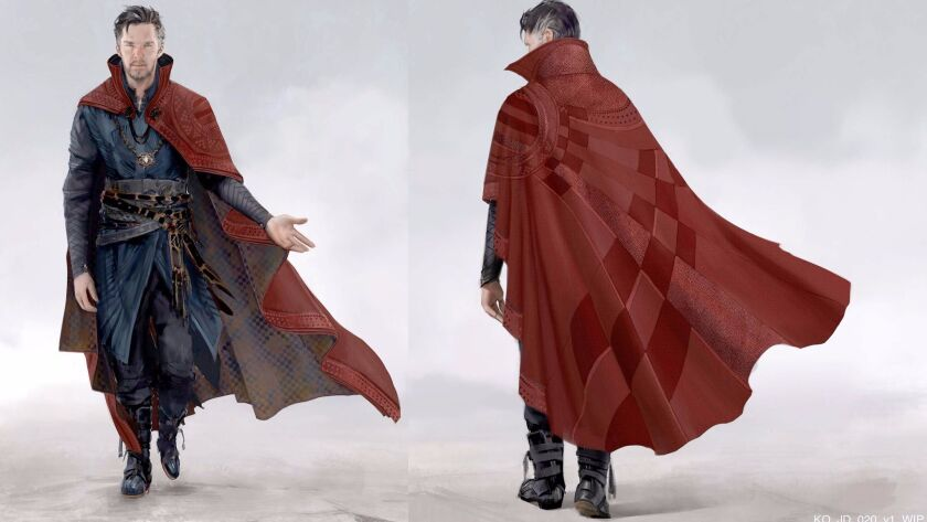 Conceptual artwork for Doctor Strange's Cloak of Levitation.