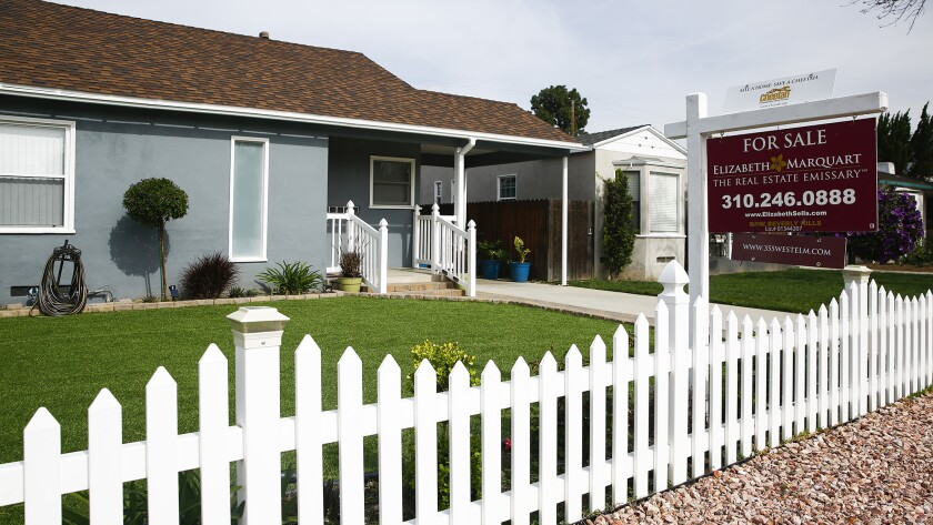 A home for sale along Elm Avenue in Burbank.