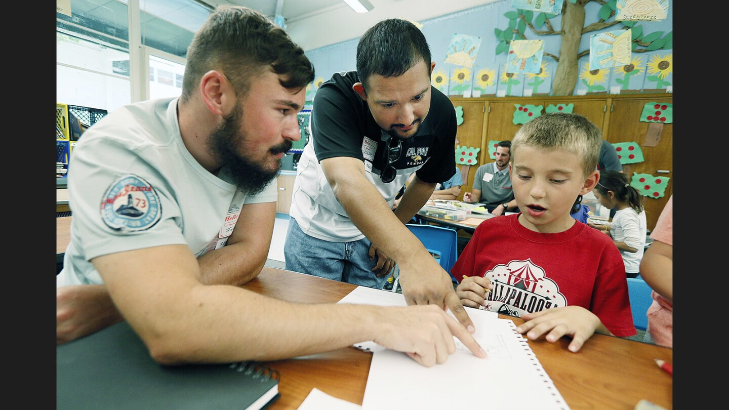 Photo Gallery: Cal Poly Pomona architecture students tap Palm Crest Elementary second graders for ideal classroom ideas