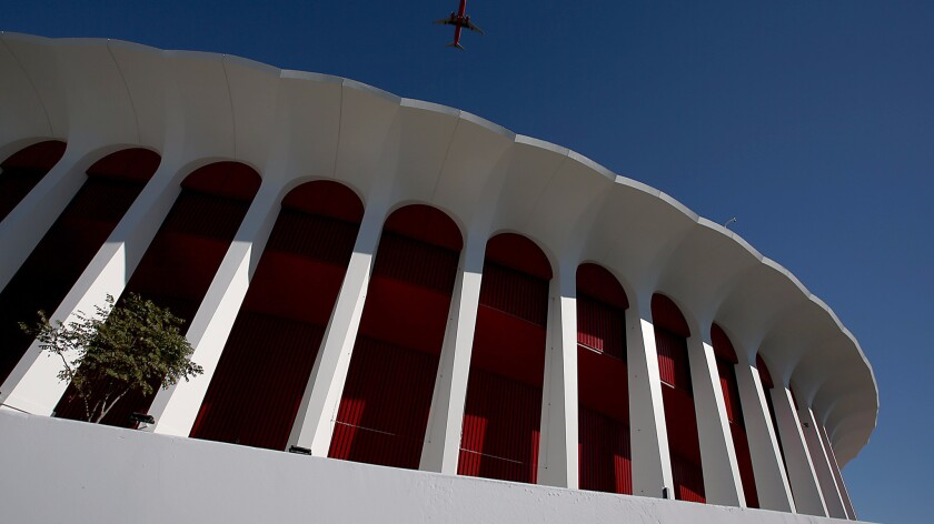 The exterior of The Forum in Inglewood