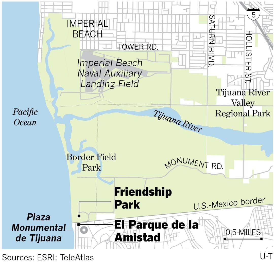Friendship Park map