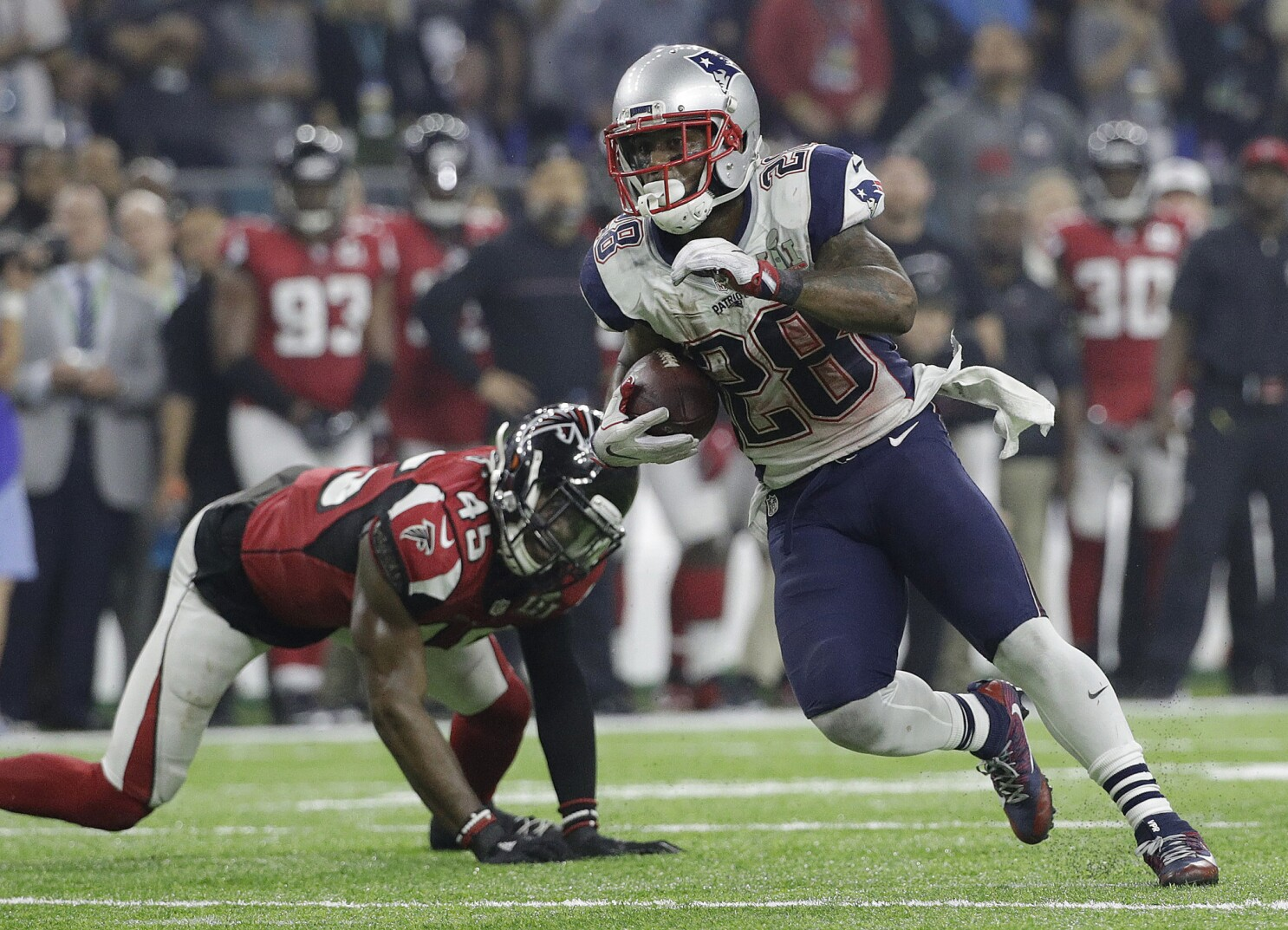 new arrival db0f6 00a48 Super Bowl notes: James White has huge game - Los Angeles Times