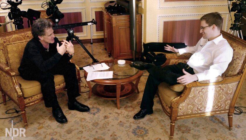 TV interview with Edward Snowden