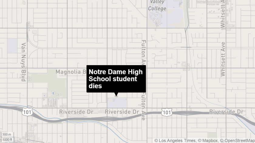 Notre Dame high student dies