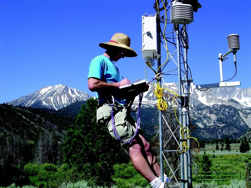 Scripps Institution of Oceanography Senior Development Engineer Douglas Alden conducts fieldwork in the southern Sierra Nevada. Courtesy