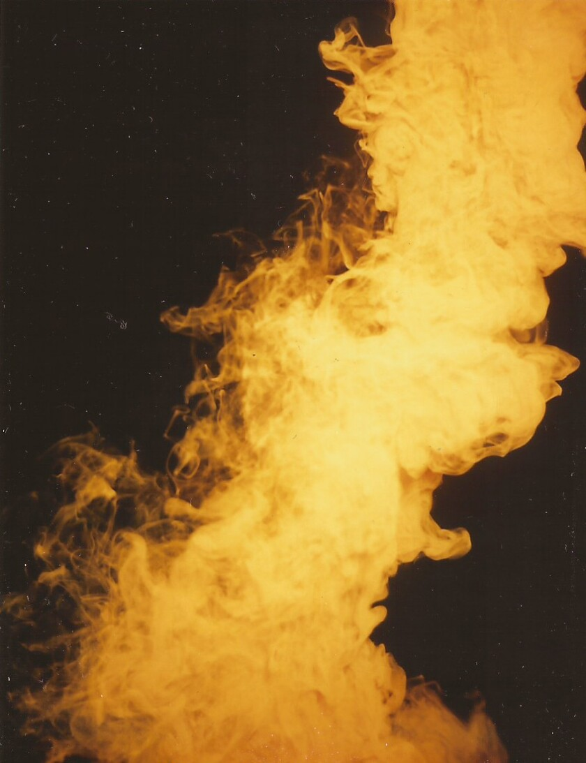 "John Knuth's ""Faded Siren #10"" (2013), Polaroid, 4 Ã…Â' x 3 3/8 inches."