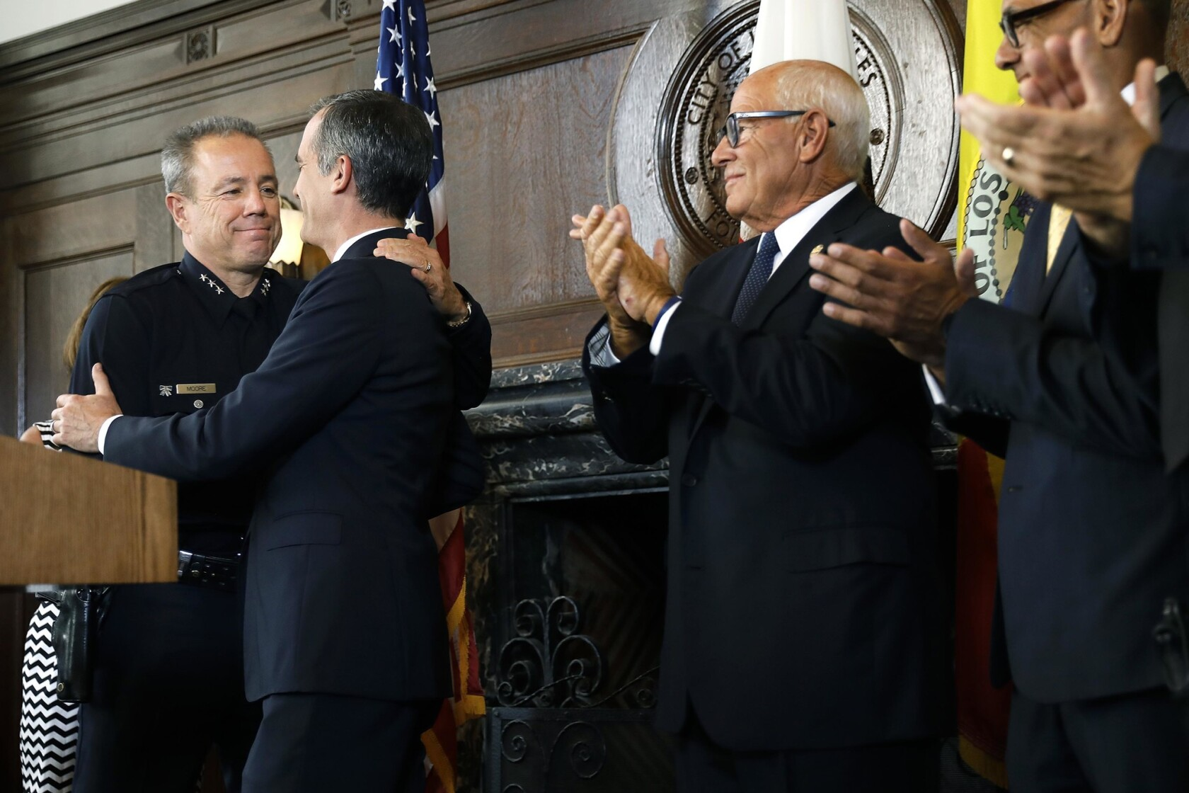 L A  mayor's pick for LAPD chief is 36-year veteran with deep