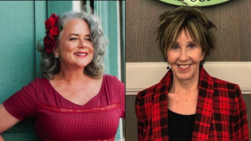 San Luis Obispo Mayor Heidi Harmon, left,  and Tybee Island, Georgia, Mayor Shirley Sessions
