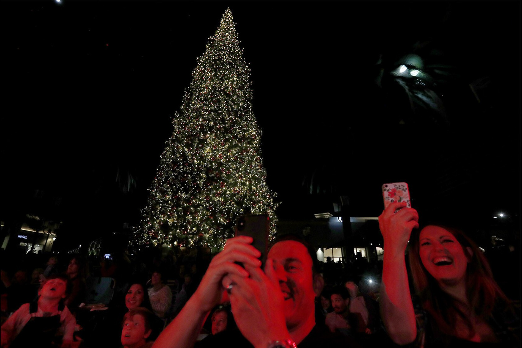 Fashion Island Christmas Tree Lighting Ceremony 2019 Fashion Island's giant tree is aglow for the holidays   Los