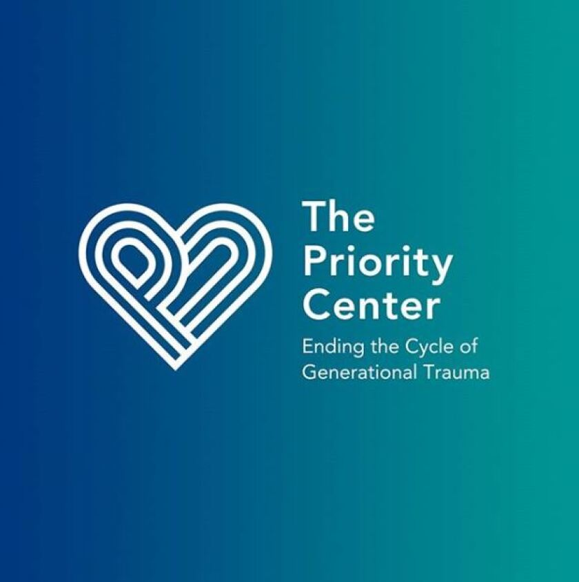 "The Priority Center logo, which reads, ""Ending the Cycle of Generational Trauma"""