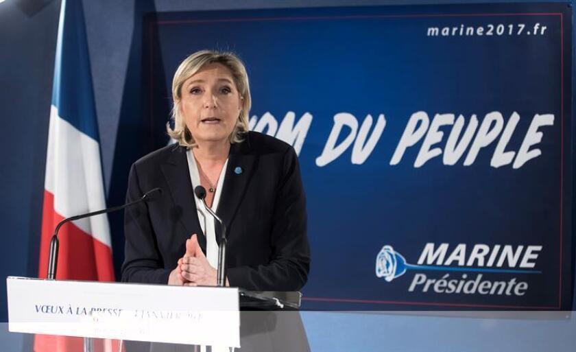 La dirigente de la ultraderecha francesa Marine Le Pen fue vista hoy en la Torre Trump de Nueva York, aunque no se ha informado oficialmente sobre la posibilidad de que vaya a reunirse con el presidente electo, Donald Trump. EFE/ARCHIVO