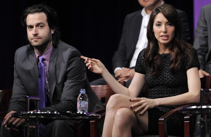 Whitney Cummings, seen here with Chris D'Elia, a former costar, against whom she spoke out last month.