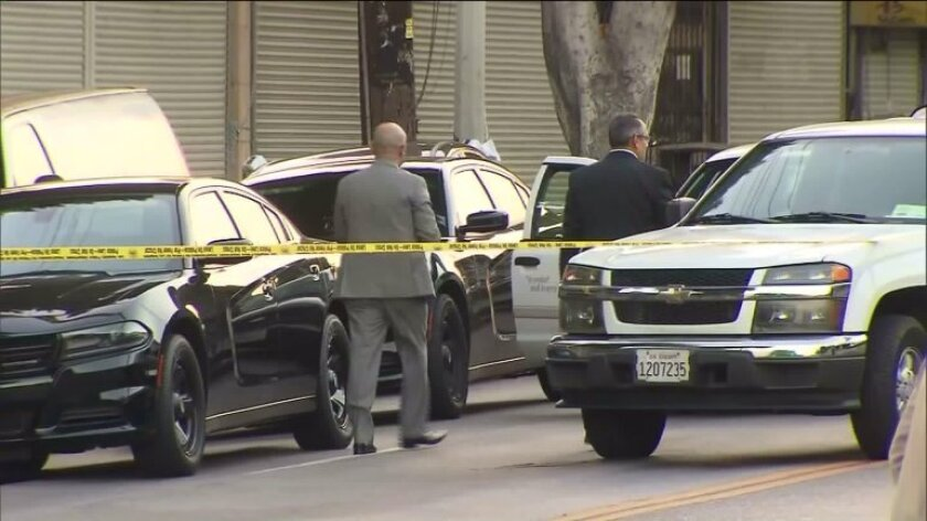 Police fatally shot an armed teen after a short foot chase near Cesar Chavez Avenue and Breed Street in Boyle Heights, according to the Los Angeles Police Department.