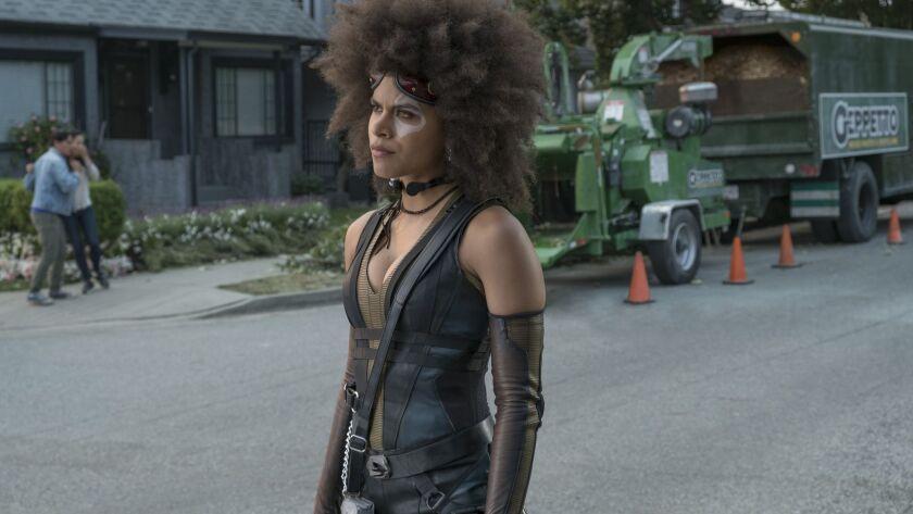 """Zazie Beetz as Domino in a scene from """"Deadpool 2."""""""
