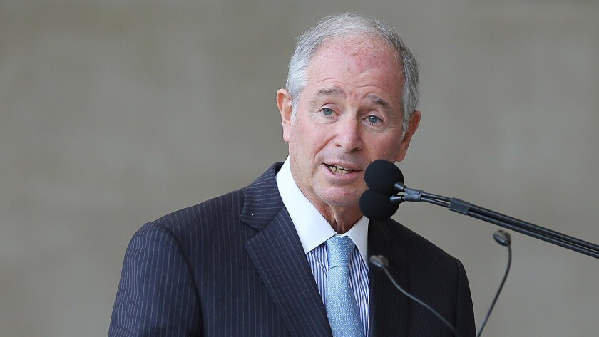 Stephen A. Schwarzman is chairman and chief executive of Blackstone Group Inc.
