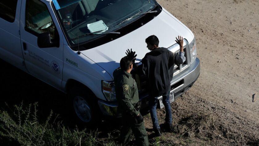 A border patrol agent at work