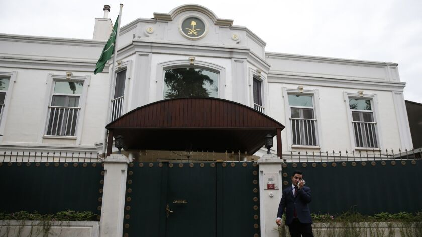 A journalist reports from outside the Saudi Arabian consul general's official residence in Istanbul, Turkey.