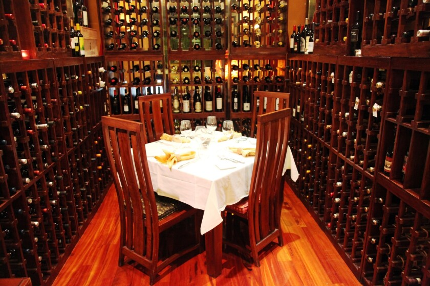 Solare's private wine room takes you away from the rest of the world.