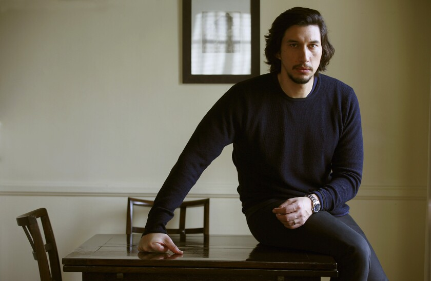 """Actor Adam Driver  plays a bus driver in """"Paterson."""""""