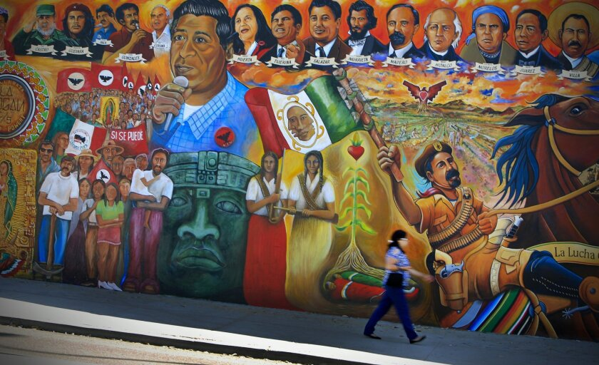 Barrio Logan's Chicano Park, which is listed on the National Register of Historic Places, features vibrant murals that express the Latino community's vitality. U-T