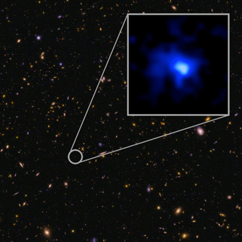 Most distant galaxy
