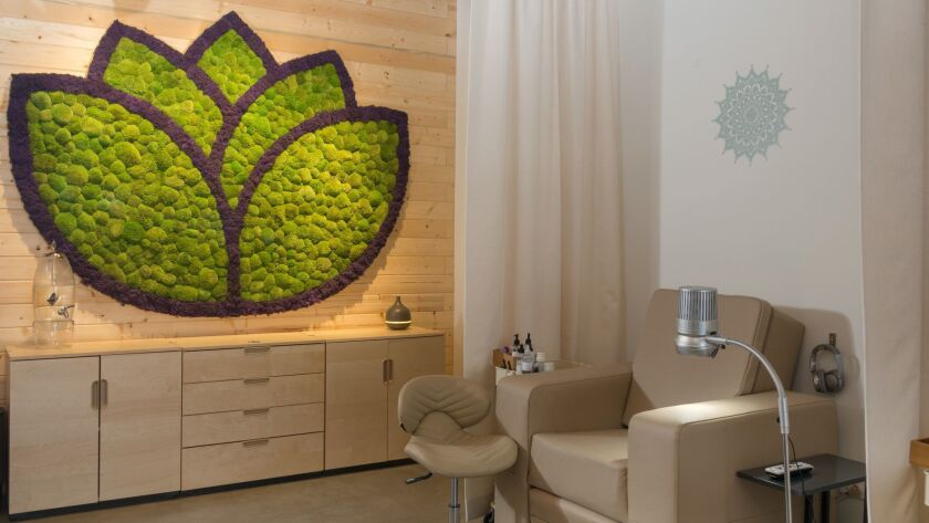 Each station at the newly-opened Namaste Nail Sanctuary in Studio City is equipped with all you need