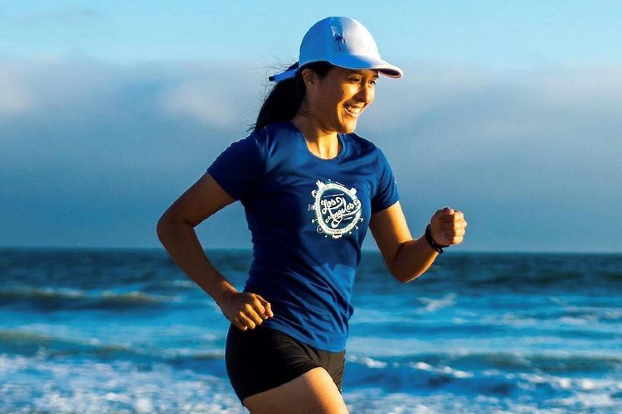 Jocelyn Rivas, corredora originaria de El Salvador