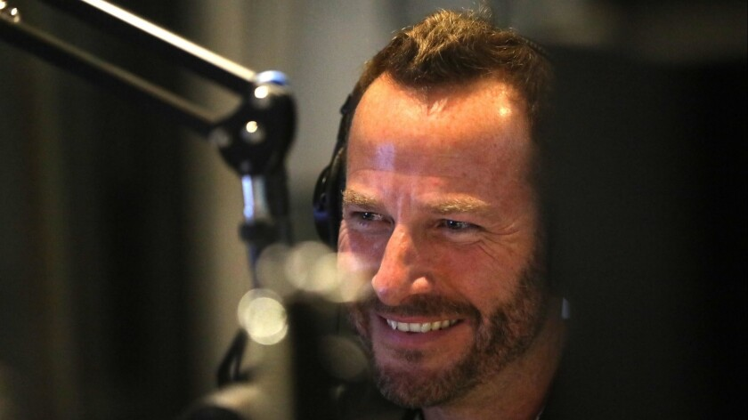 """KCRW DJ and music director Jason Bentley, shown hosting """"Morning Becomes Eclectic,"""" says he'll leave the position at the end of August."""