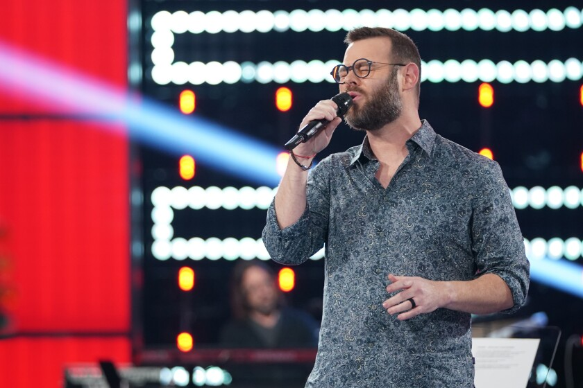 """Todd Tilghman performing on NBC's """"The Voice."""""""