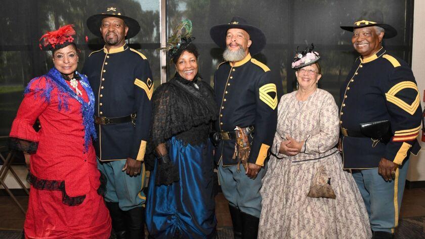 Buffalo Soldiers Mounted Cavalry Unit members: Skye Inouye (chairperson), Clyde Phillips, Deborah an