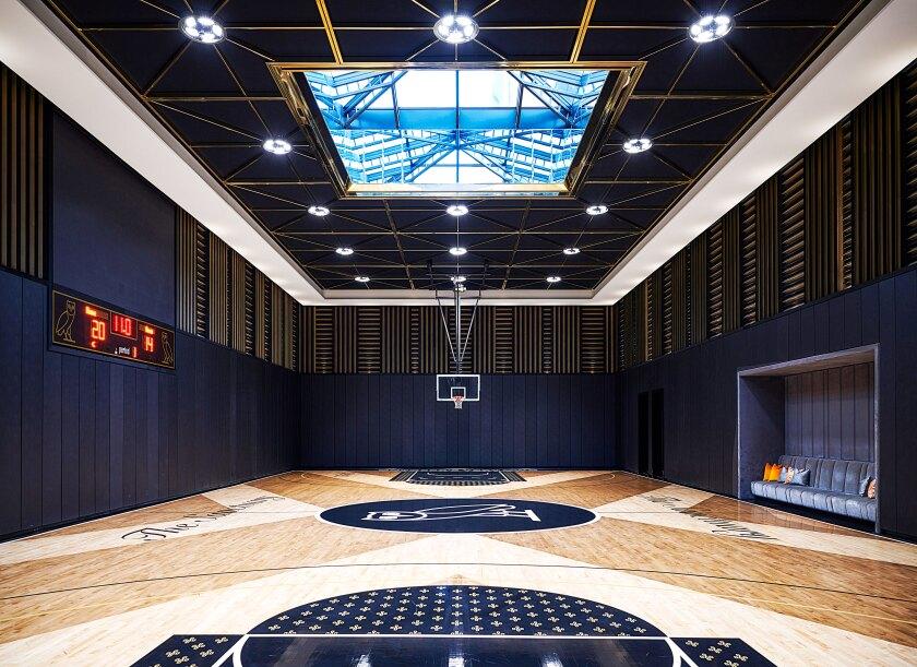 Drake's indoor basketball court