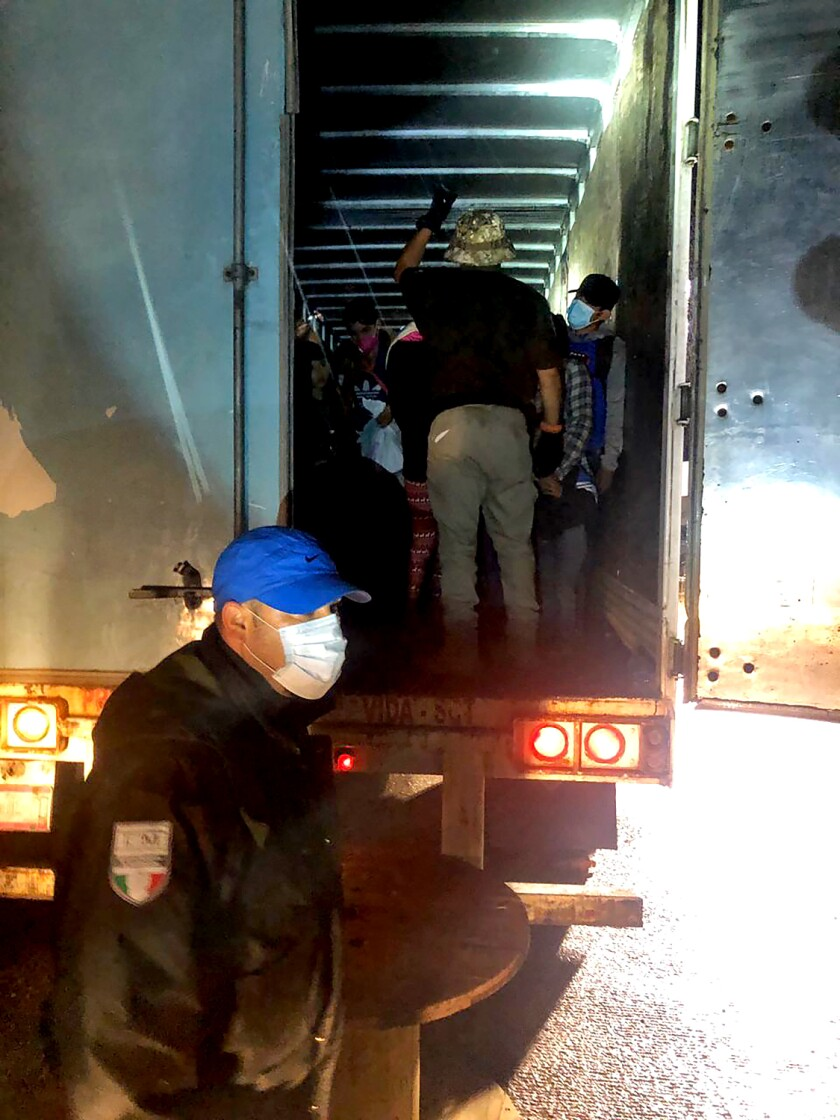 The rescue of 201 migrants in the back of a big rig in Mexico's southern Chiapas state
