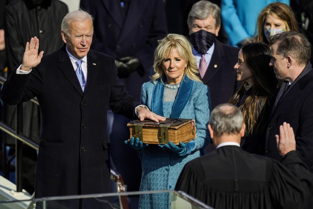 Joe Biden is sworn in as president