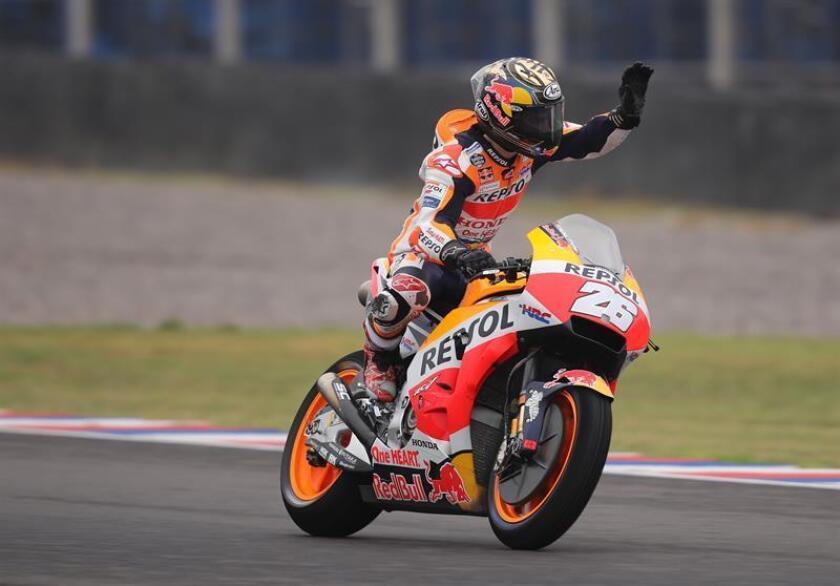 En la imagen,el piloto español de MotoGP Dani Pedrosa. EFE/Archivo