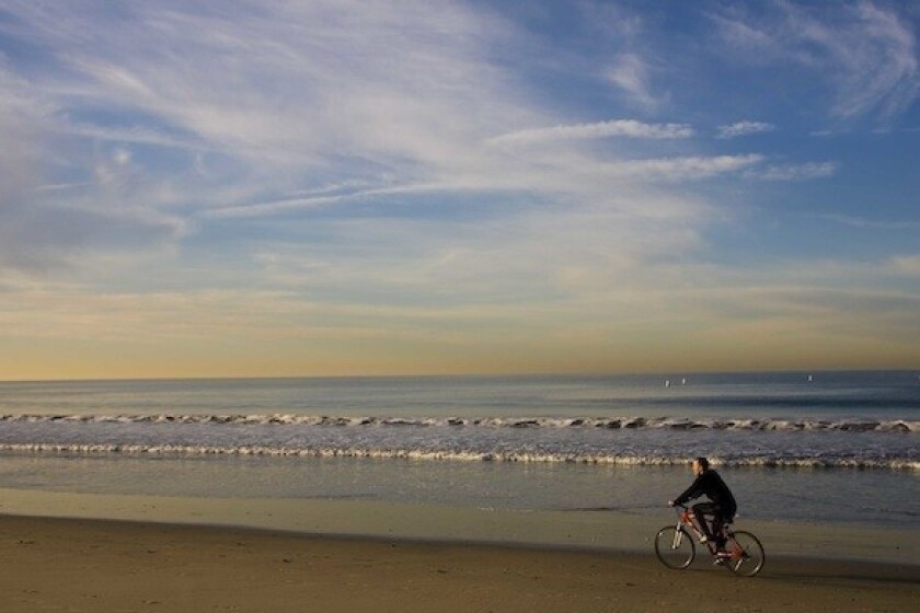 The beaches in Santa Monica and Venice are stops on the L.A. in a Day bicycle tour offered daily.