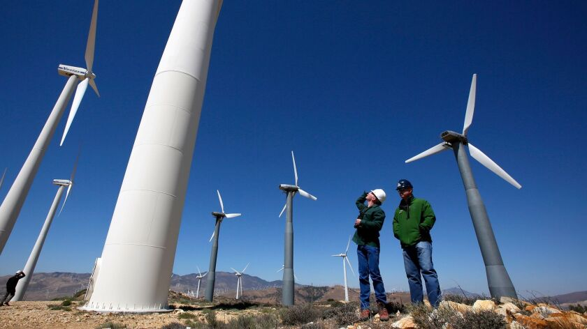 Wind turbines in the Tehachapi Mountains