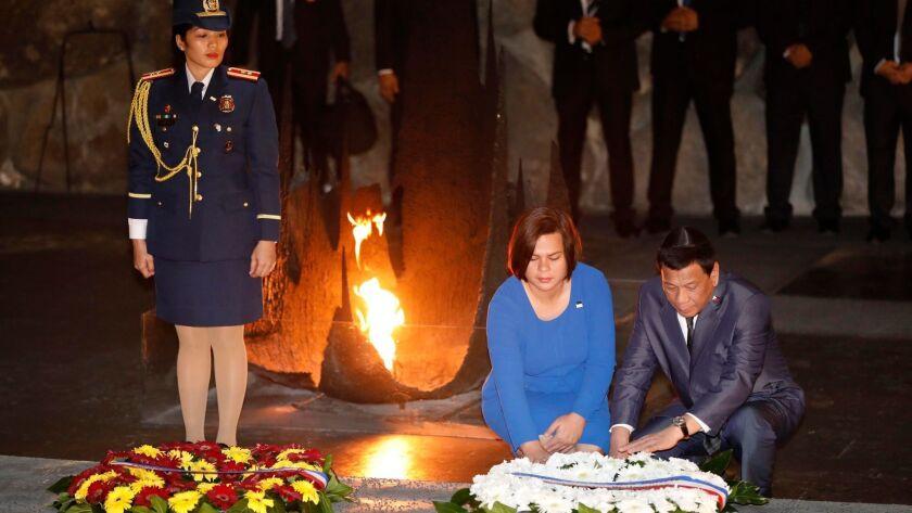 Philippine President Rodrigo Duterte in Jerusalem, Israel - 03 Sep 2018