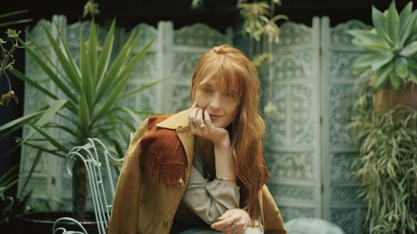 Florence Welch will bring her band, Florence and the Machine, to the Hollywood Bowl on Tuesday and Wednesday.