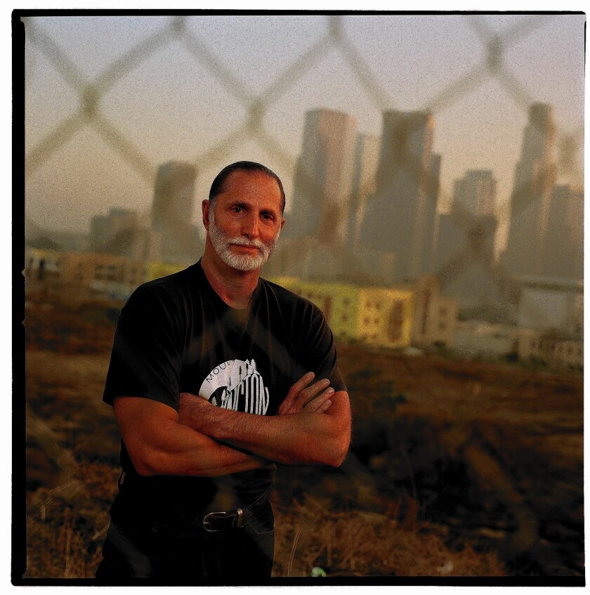 Filmmaker David Koff in the 1990s, when he turned the Los Angeles Unified School District's Belmont Learning Complex into a symbol of civic dysfunction.
