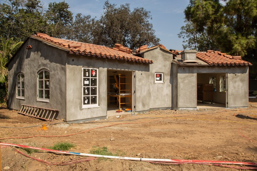 Once completed, the House of Mexico in Balboa Park will be a shared duplex with the House of Panama.
