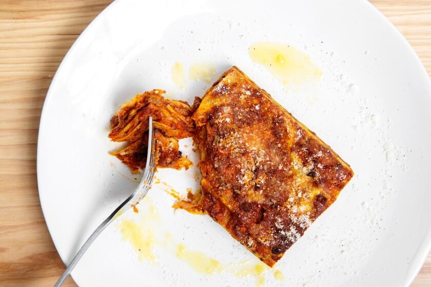 Classic beef ragù lasagna