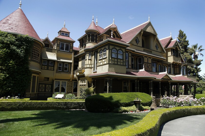 SAN JOSE, CA., MAY 5, 2017--The Winchester House of Mystery in San Jose is the subject of a movie st