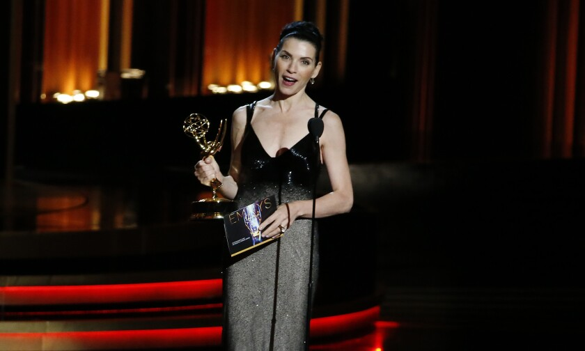 Julianna Margulies won the Emmy for best actress in a drama series.