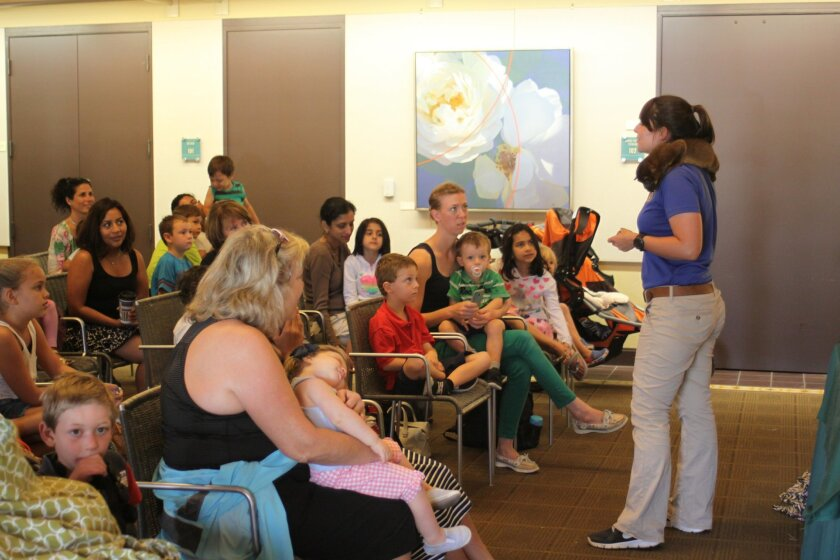 La Jolla's Riford Library was filled with young animal lovers July 17.