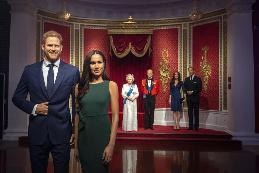 Britain royals at Madame Tussauds London