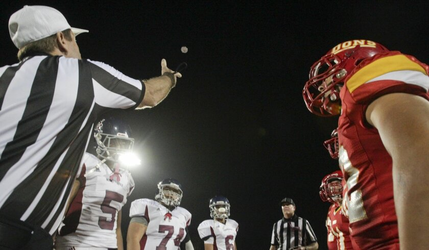 Officiating games is a popular way to stay in the sport for those who love football.